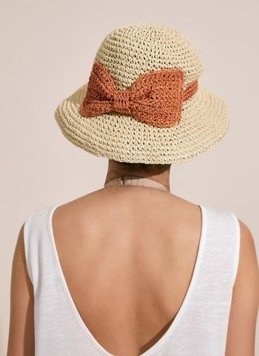 Morhipo Beach Fiyonk Detaylı Bej Hasır Şapka Bej